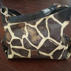 Dooney Bourke giraffe leather handbag